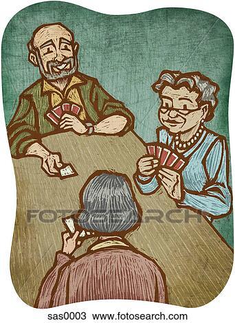 Drei Rentner Bügeln Alles