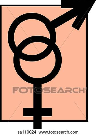 Drawings Of Joined Symbols For Male And Female Sa110024 Search