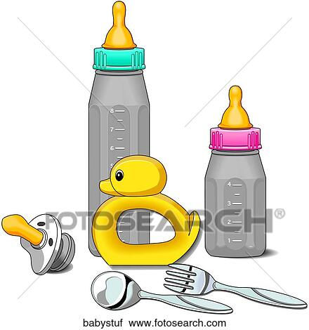 clipart of baby stuff babystuf search clip art illustration rh fotosearch com baby supplies clipart baby supplies clipart