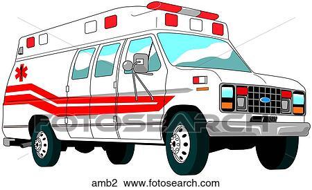 جناح لقب سيارة إسعاف الرسم Amb2 Fotosearch
