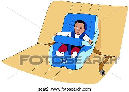 Stoel Voor Kind : Clipart auto stoel kind seat zoek clipart illustratie