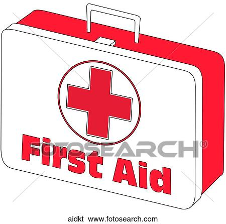 stock illustration of first aid kit aidkt search clip art rh fotosearch com first aid kid clipart first aid clip art images