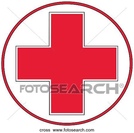 Stock Illustration Of Red Cross Symbol Cross Search Clip Art