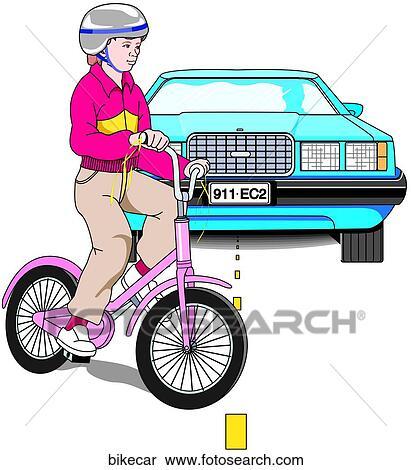 banque d 39 illustrations v lo accident voiture bikecar recherche de cliparts de dessins d. Black Bedroom Furniture Sets. Home Design Ideas