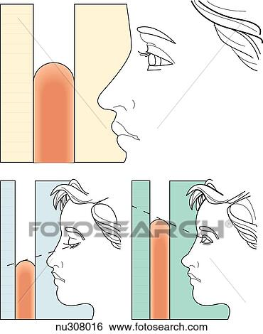 Illustration, démontrer, les, propre, technique, pour..