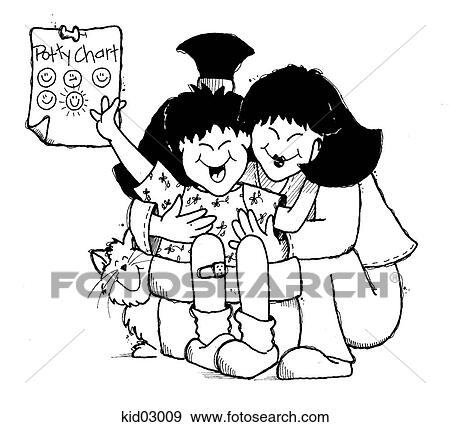 Stock Illustration Of Illustration Of Girl And Mother Happy With