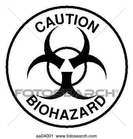 Clipart Of Biohazard Symbol Aa04001 Search Clip Art Illustration