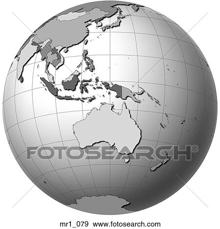 Australia Map Globe.Australia Map Indonesia Globe Atlas Stock Photo