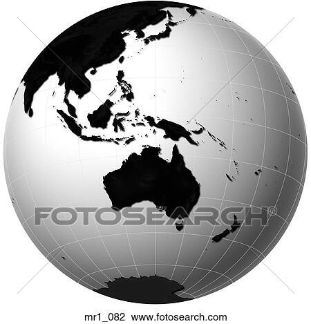 Australia Map Globe.Globe Relief Map Indonesia Australia Stock Image