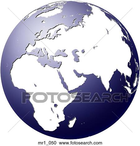 Stock Photography of middle east, asia, map, globes, europe, africa ...