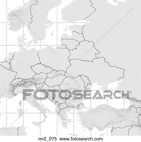 Political Map Eastern Europe.Stock Image Of Eastern Europe Political Map Atlas Mr2 075
