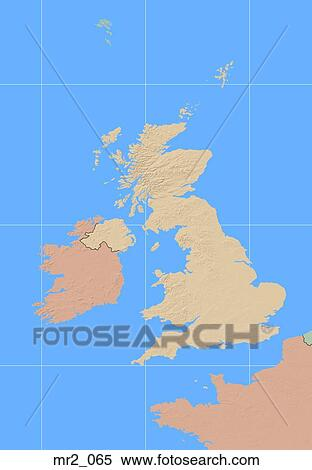Stock Image Of England Ireland Map Political Uk Mr2 065 Search