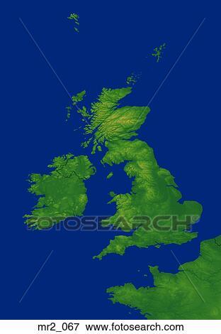 England Ireland Map Uk United Kingdom Stock Photo Mr2 067 Fotosearch