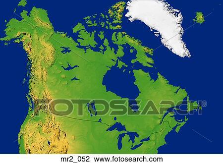 Karta Pa Kanada.Stockfoto Kanada Karta Lattnad Terrang Topografisk Mr2 052