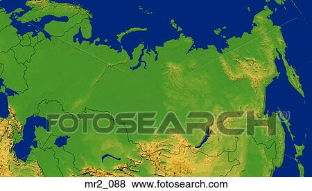 Pictures Of Map Relief Russia Terrain Topographic Mr2 088