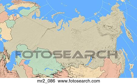 Stock Images of map, russia, political, atlas mr2_086 - Search Stock ...