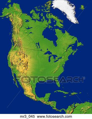 North America Topographic Map Map, north america, relief, terrain, topographic Stock Photography