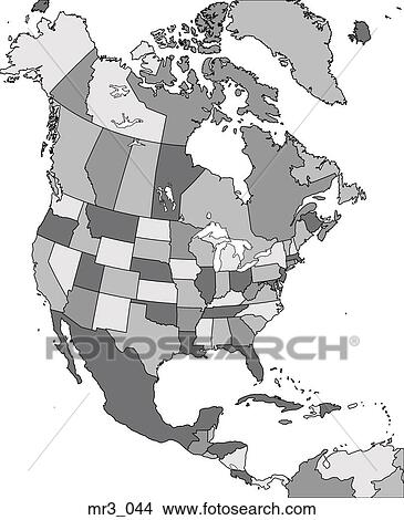 Map, united states, political, north america, atlas Picture