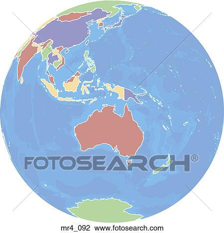 australia map indonesia globe atlas