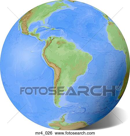 Globe, map, relief, south america, terrain Stock Photograph ... on map of antarctica globe, map of pacific ocean globe, map of world globe,
