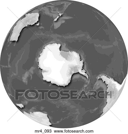 South Pole World Map.Stock Photo Of Globe Map South Pole World Mr4 093 Search Stock