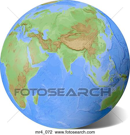 indonesia china indian ocean india globe map asia