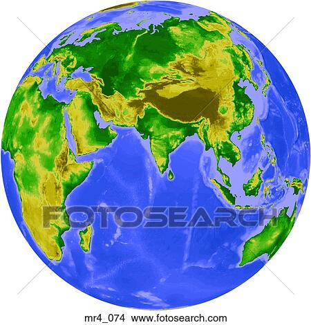 India Map Asia.Stock Photo Of Indonesia China Indian Ocean India Globe Map
