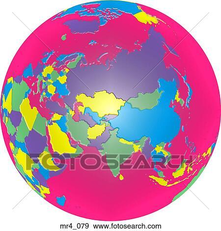 Royaltyfri Bild Stockbild Stockfoto Karta Atlas Indien Klot