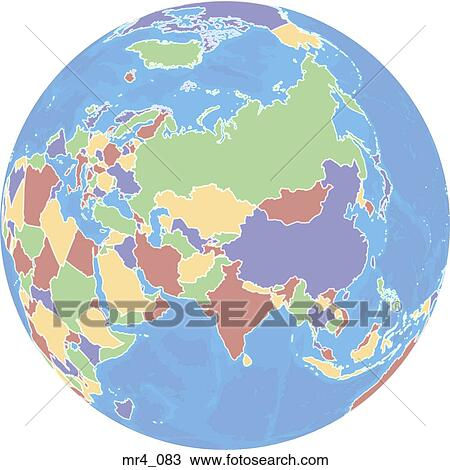 Map Of Asia India.Map Atlas India Globe China Asia Stock Image