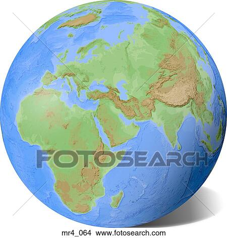 Middle east, asia, map, globe, europe, africa Picture