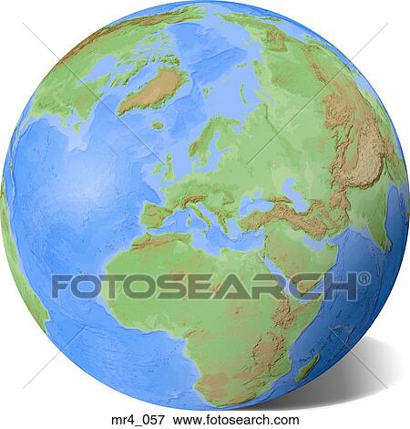 Middle east, asia, map, globe, europe, africa Stock Photo