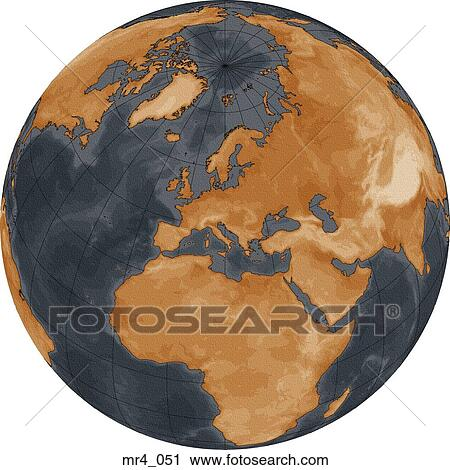 middle east asia map globe europe africa