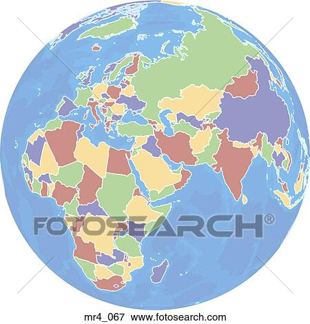 Middle east, atlas, map, globe, europe, africa Stock Photo ...