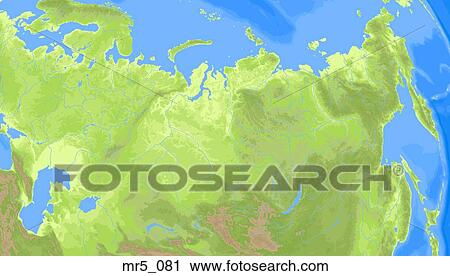 Political Map Of Central Asia.Central Asia Russia Political Map Atlas Stock Image