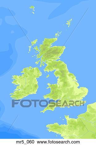 Stock Photography Of England Political Map Ireland Atlas Mr5 060
