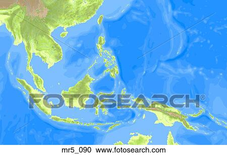 Stock Photography of indonesia, southeast asia, political, map ...