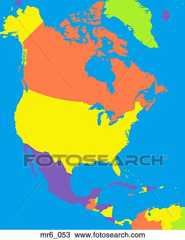Map, united states, politcal, north america, atlas Stock ...