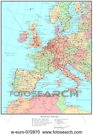 地図, の, 西ヨーロッパ, ∥で∥, ...