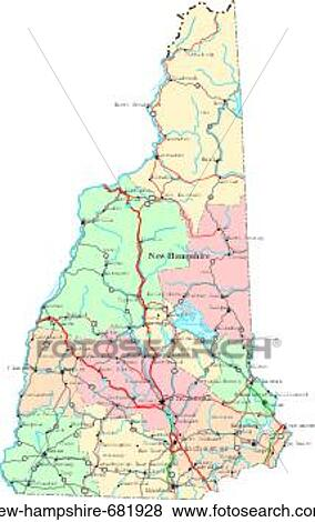 Pictures Of Map Political United States Usa States New Hampshire