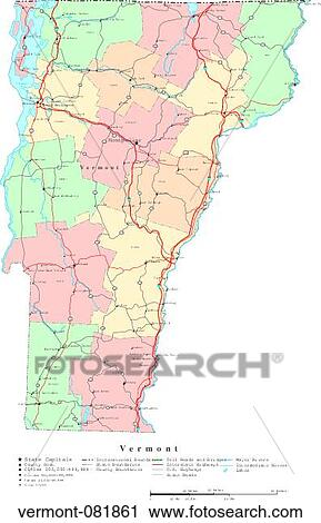Stock Photography Of Map Political United States Usa States