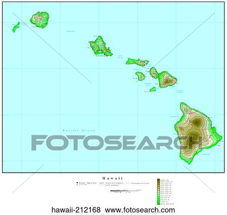 Pictures of map, contour, united states, usa, states hawaii-212168 ...
