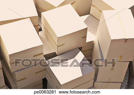 stock photography of large group of stacked boxes pe0063281 search