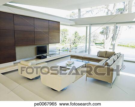 Stock Afbeelding - woonkamer, van, een, hippe, thuis pe0067965 ...