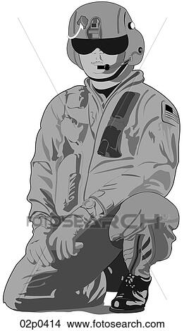 Clipart of helicopter pilot 02p0414 - Search Clip Art ...