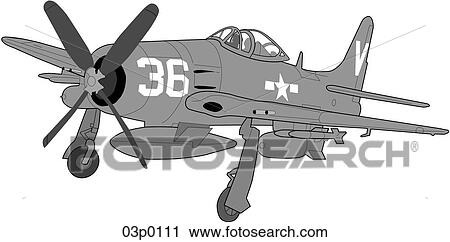 clipart of f8f 2 bearcat 03p0111 search clip art illustration