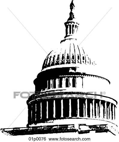 clip art of capitol dome 01p0076 search clipart illustration rh fotosearch com capitol building clipart black and white capitol building clipart free