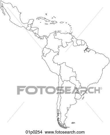 America Politica Cartina.Latin America Political Clipart 01p0254 Fotosearch