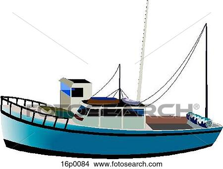 Fishing Boat Clipart 16p0084 Fotosearch