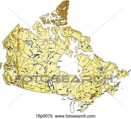 Map Of Canada Eps.Clipart Of Physical Map Of Canada 16p0075 Search Clip Art