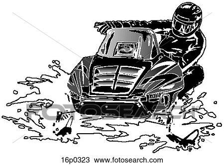Snowmobile Clipart   16p0323   Fotosearch
